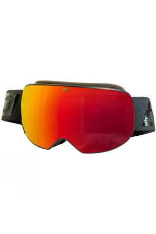 Dirty Dog Mens Mutant Prophecy Goggle Matte Black / Red Fusion Mirror & Yellow Multi