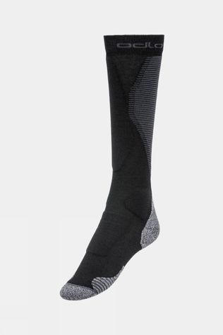 Odlo Unisex Active Warm Pro Ski Socks Black - Odlo Graphite Grey
