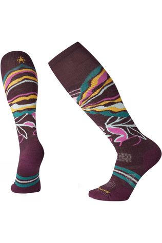 SmartWool Womens PHD Ski Medium Pattern Socks Bordeaux