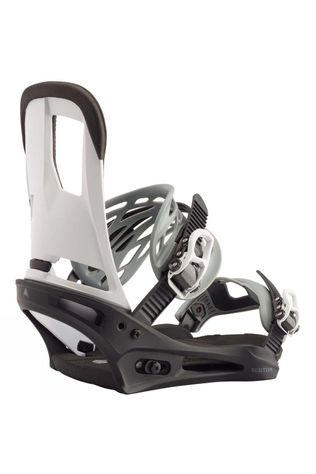 Burton Mens Cartel Re:Flex Snowboard Binding Black / White