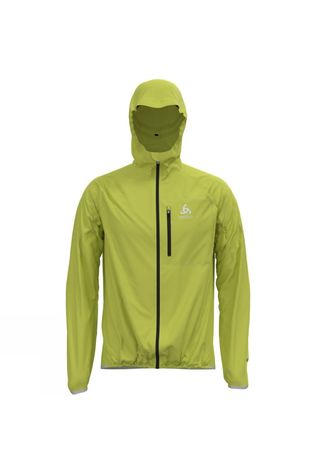 Odlo Mens Zeroweight Dual Dry Waterproof Jacket Limeade