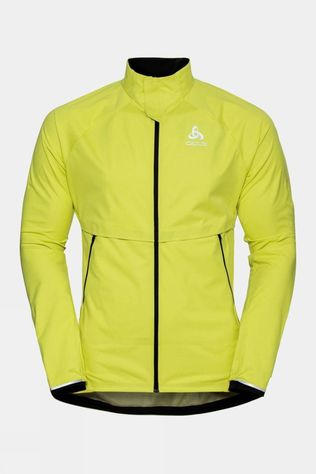 Odlo Mens Zeroweight Pro Warm Running Jacket Limeade