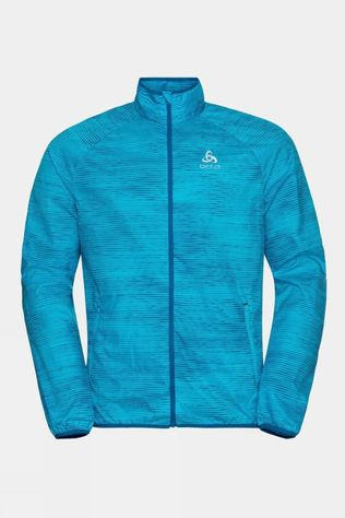 Odlo Mens Element Light AOP Jacket Horizon Blue - Graphic Ss21