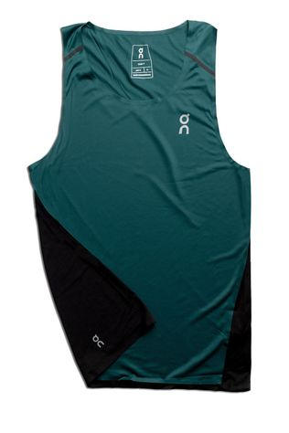On Mens On Tank  Evergreen/Black