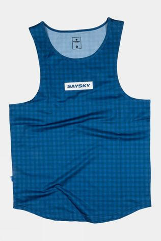 Saysky Unisex Checker Combat Singlet Blue Checkerboard