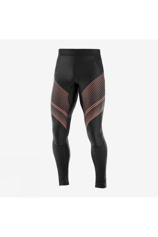 Salomon Mens Fast Wing Long Tight Black/Fiery Red