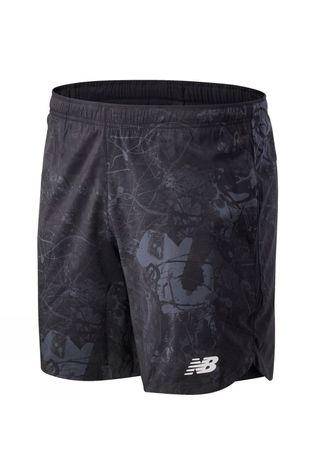 New Balance Men's Velocity 2-in-1 7inch Shorts Black Pattern