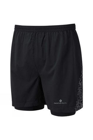 "Ronhill Men's Life Night Runner 5"" Twin Short Black/Reflect"