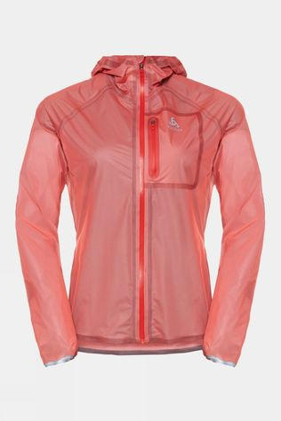 Odlo Womens Zeroweight Dual Dry Waterproof Running Jacket Hot Coral