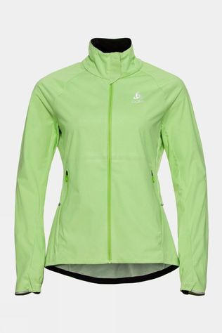Odlo Womens Zeroweight Pro Warm Running Jacket Tomatillo