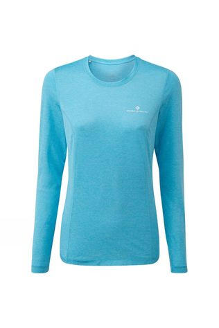 Ronhill Womens Stride Long Sleeve Tee Sky Blue Marl