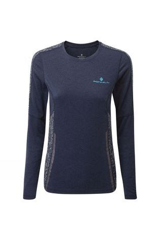Ronhill Women's Life Night Runner L/S Tee Deep Navy/Reflect