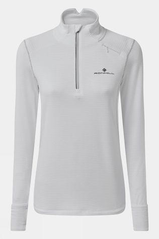 Ronhill Women's Tech Matrix 1/2 Zip Tee White/Black