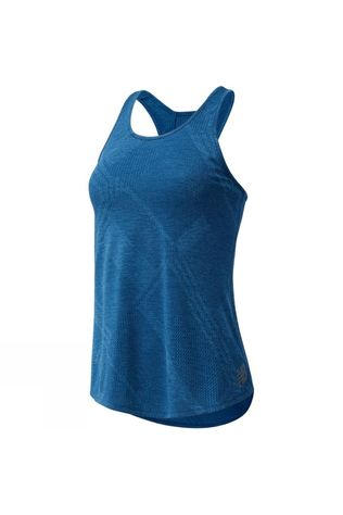 New Balance Women's Q Speed Jaquard Tank Rogue Wave