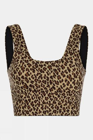 Varley Womens Delta Bra Coffe Cheetah