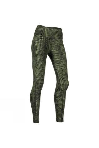 2XU Women's Print Mid-Rise Compression Tights Reverse Mesh Olive/Black