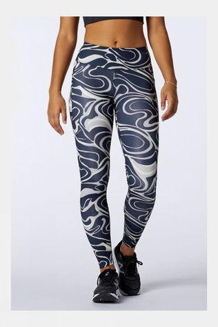 New Balance Womens Printed Impact Run Tight Black/White
