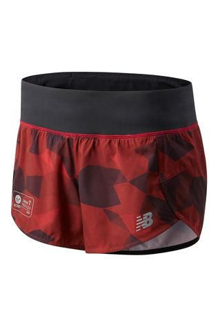 New Balance Women's London Edition Printed Impact Run 3in Short Deep Red