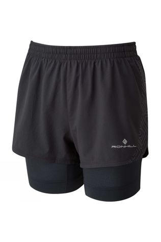 Ronhill Women's Tech Marathon Twin Short All Black