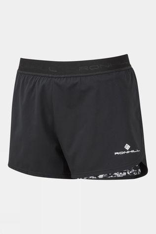 Ronhill Women's Life Twin Short Black/Mono Mushroom