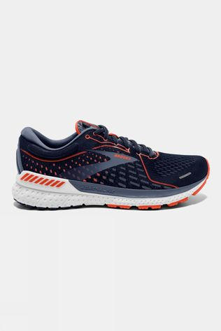 Brooks Men's Adrenaline GTS 21 Wide   Navy/Red Clay/Gray