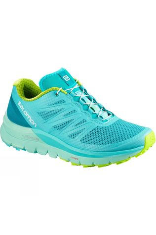 Salomon Womens Sense Pro Max Shoe Blue Curacao/Beach Glass/Acid Lime
