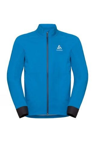 Odlo Mens Morzine Rain Light Cycling Jacket Blue Jewel