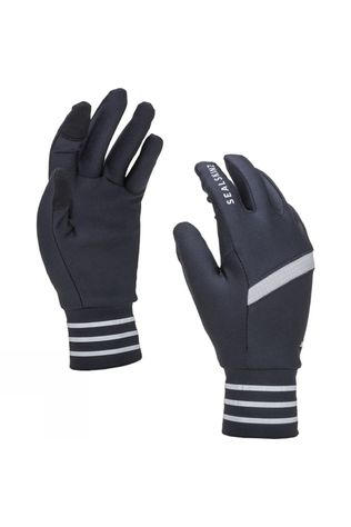 SealSkinz Solo Stretch Reflective Glove Black/Mid Grey