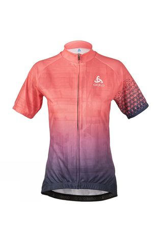 Womens Active Print Stand-Up Collar Jersey