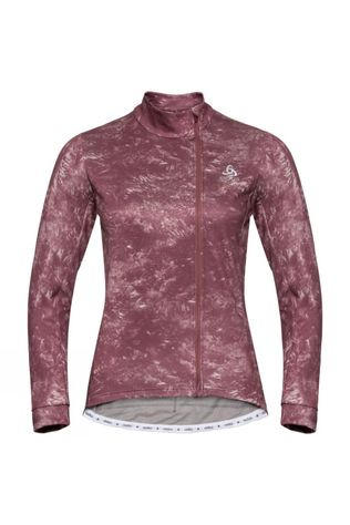 Odlo Womens Zeroweight Ceramiwarm Cycling Midlayer Roan Rouge - AOP FW19