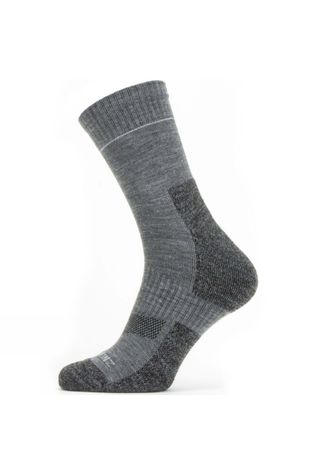 SealSkinz Mens Solo QuickDry Ankle Length Sock Mid Grey