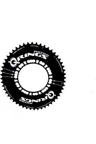 Rotor Q-Ring 52 Tooth 110x5 Bolt Outer Aero Chainring Black