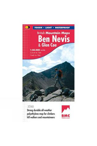 Harvey Maps Ben Nevis & Glen Coe British Mountain Map 1:40K No Colour