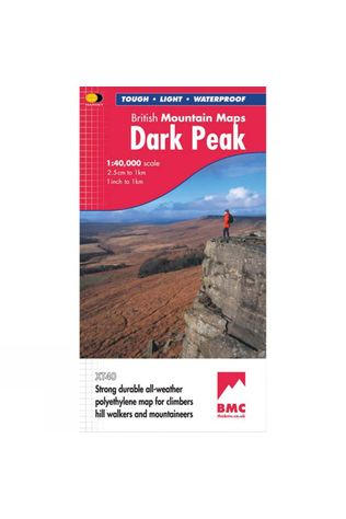 Harvey Maps Dark Peak British Mountain Map 1:40K No Colour