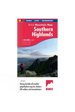 Harvey Maps Southern Highlands British Mountain Map 1:40K No Colour