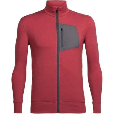 Mens Momentum Long Sleeve Zip Top