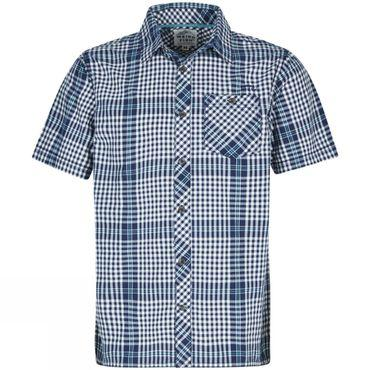 Mens Frobe Short Sleeve Check Shirt
