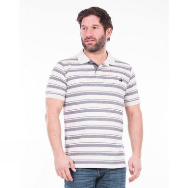 Mens Double Stripe Polo