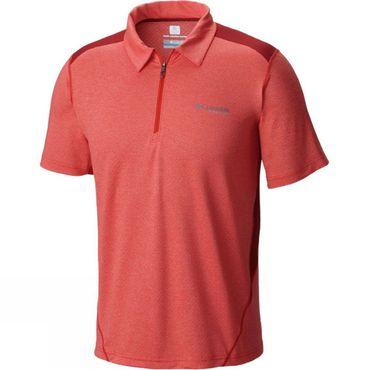 Mens Titan Ice Zip Polo Shirt