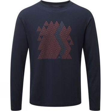 Mens Zig Zag Long Sleeve Tee