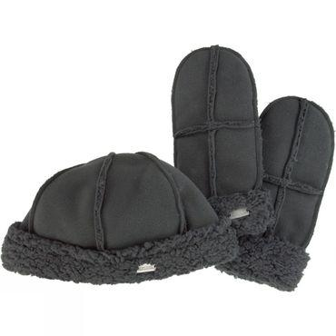 Womens Cozy Hat and Mitten Set