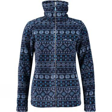 Womens Crevasse High Collar Printed Fleece