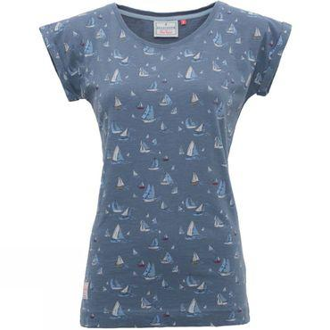 Womens Boats & Birds Boyfriend Tee