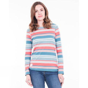 Womens Multi Stripe Long Sleeve Tee