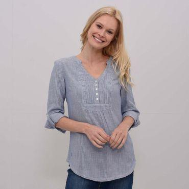 Womens Pleated Popover Blouse