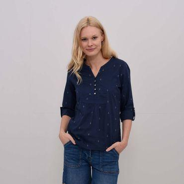 Womens Anchors Popover Blouse