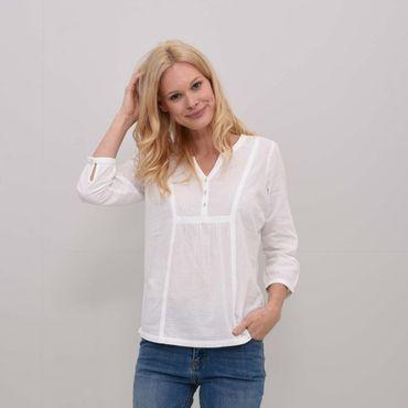 Womens Lace And Dobby Blouse