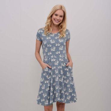 Womens Swans Skater Dress