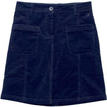 Womens Navy Cord Pocket Skirt