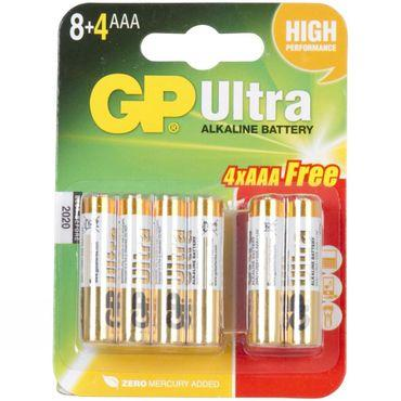 Ultra Alkaline AAA Battery x 8 (+4 Free)